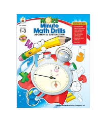 more minute math drills resource book grade 1 3 carson dellosa
