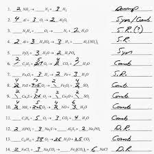 worksheet answer 8 writing and balancing chemical equations worksheet answers worksheets