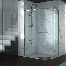 Merlin Shower Doors Merlyn Series 8 Frameless 1 Door Offset Quadrant Shower Enclosure