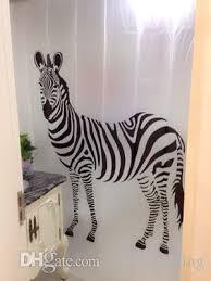 Animal Shower Curtains 2018 Fashion Zebra Print Shower Curtain White Black Zebra Color