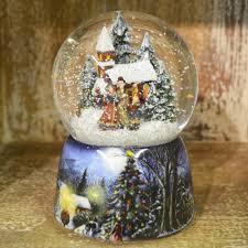carol singers and church u0027 christmas musical snow globe u2013 barretts