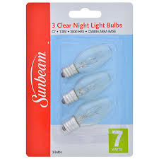 bulk sunbeam 7 watt light replacement bulbs 3 ct packs at