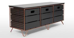 industrial storage bench amph storage bench copper and grey made com