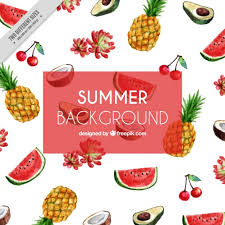 imagenes gratis de frutas y verduras watercolour summer fruits pineapple watermelon covers wallpaper