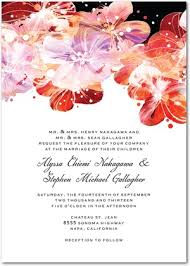 floral watercolor wedding invitations flower fantasia