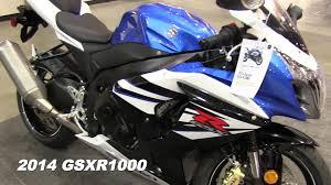 2014 suzuki gsx r1000 walk around video blue u0026 white paint