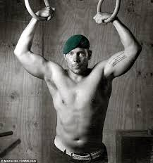 Driscoll S Black Amp White Injured Royal Marines Pose For Go Commando Calendar Daily Mail