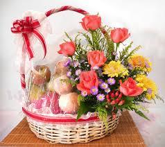 fruit flower basket fruit flower basket lavender flora largest online florist