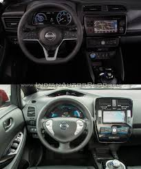 nissan leaf interior 2018 nissan leaf vs 2014 nissan leaf dashboard driver side