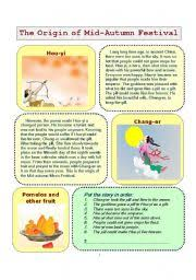worksheet mid autumn festival