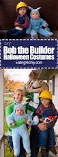 diy bob the builder halloween costume for the whole family
