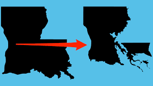 louisiana map global warming louisiana s state map is changing due to flooding and climate