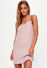 shift dress pink cami shift dress missguided