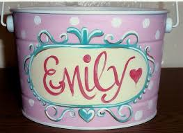 easter pail 24 best painted buckets images on easter baskets