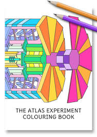 atlas colouring book atlas experiment cern