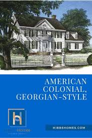 floorplan of the month american colonial georgian style hibbs