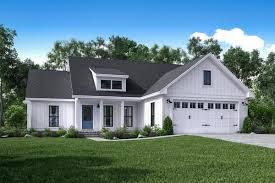 large farmhouse plans stoney creek house plan brick accent walls open living area and