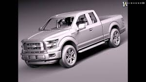 Ford F150 Truck Models - ford f 150 extended cab 2015 3d model from creativecrash com youtube