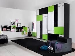 bedroom unique contemporary white green black modern kids bedroom