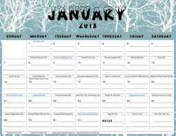 printable calendar with holidays 2018 monthly free printable calendar for 2018