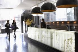 Hotel Lobby Reception Desk by Hotel Le Germain Calgary By Lemaymichaud Karmatrendz