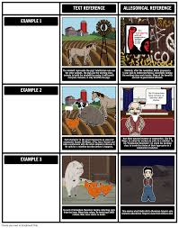 animal farm allegory storyboard by rebeccaray