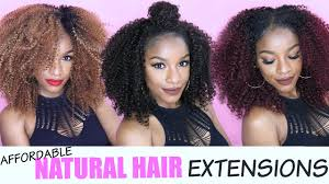 Hair Extensions Louisville Ky by Natural Hair Extensions 5 Easy U0026 Affordable Ways Ft Outre Big