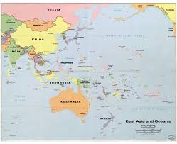 South Asia Political Map by Maps Of Oceania And Oceanian Countries Political Maps Road And