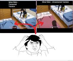 Mirai Nikki Memes - otaku meme anime and cosplay memes mirai nikki wtf