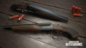 pubg update today pubg desert map exclusive weapon double barrel sawed off shotgun