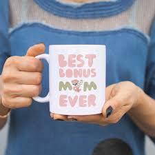 best bonus mom ever flower mug mothers day gift for stepmom or