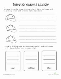 primary school worksheets what are primary colors review worksheet education