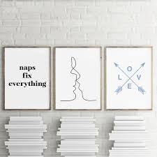 baise en chambre citation d amour romantique chambre imprimer wall décor le
