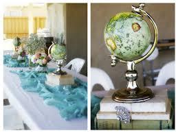 travel themed bridal shower growing up gardner honeymoon bridal shower vintage travel theme
