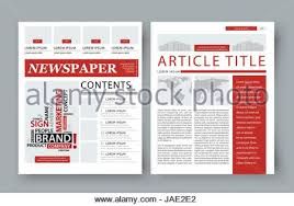 tabloid newspaper design template vector images articles