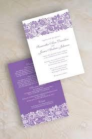 Lavender Wedding Invitations Wedding Invitations Purple And White Paperinvite