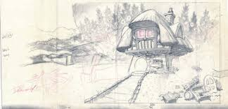 House Layout Drawing by Vintage Disney Alice In Wonderland Big Alice In The White