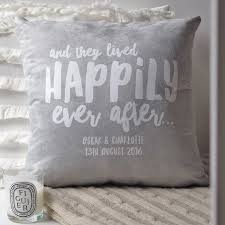 personalised wedding gifts happily after cushion couples cushion personalised