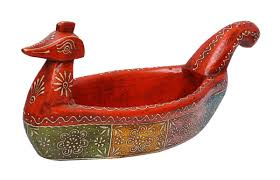 Duck Home Decor Wholesale Handmade 17 U201d Wooden Serving Bowl In Red Colored Duck