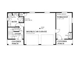eplans contemporary garage plan u2013 double garage with workshop and