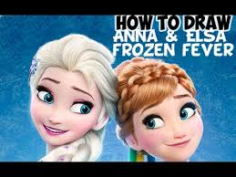 draw elsa anna frozen fever step step drawing