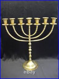7 candle menorah vtg large brass menorah candelabra 7 arm branch