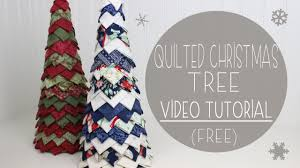 quilted christmas quilted christmas tree tutorial no sew fabric tree
