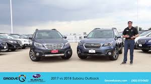 2017 subaru outback 2 5i limited black 2017 vs 2018 subaru outback what u0027s the difference youtube