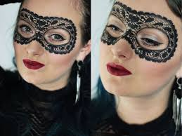 halloween face masks painted lace mask halloween tutorial youtube