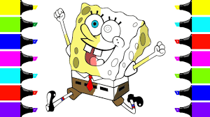 drawing and coloring spongebob coloring pages for children art
