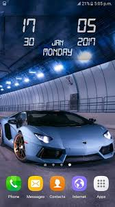 lamborghini live wallpaper cars clock wallpaper android apps on play