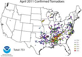 Illinois Tornado Map by On This Day 2011 Tornado Super Outbreak National Centers For