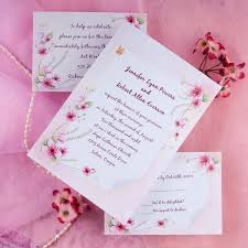 wedding invitations on a budget pink flowers and butterfly wedding invitations ewi190 as