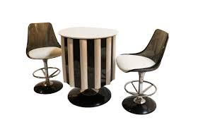 chromcraft table and chairs mid century modern chromcraft bar set table chairs stools
